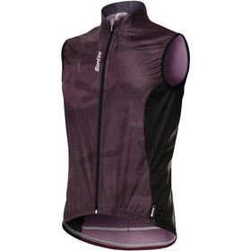 Santini Fine Vest Men bordeaux